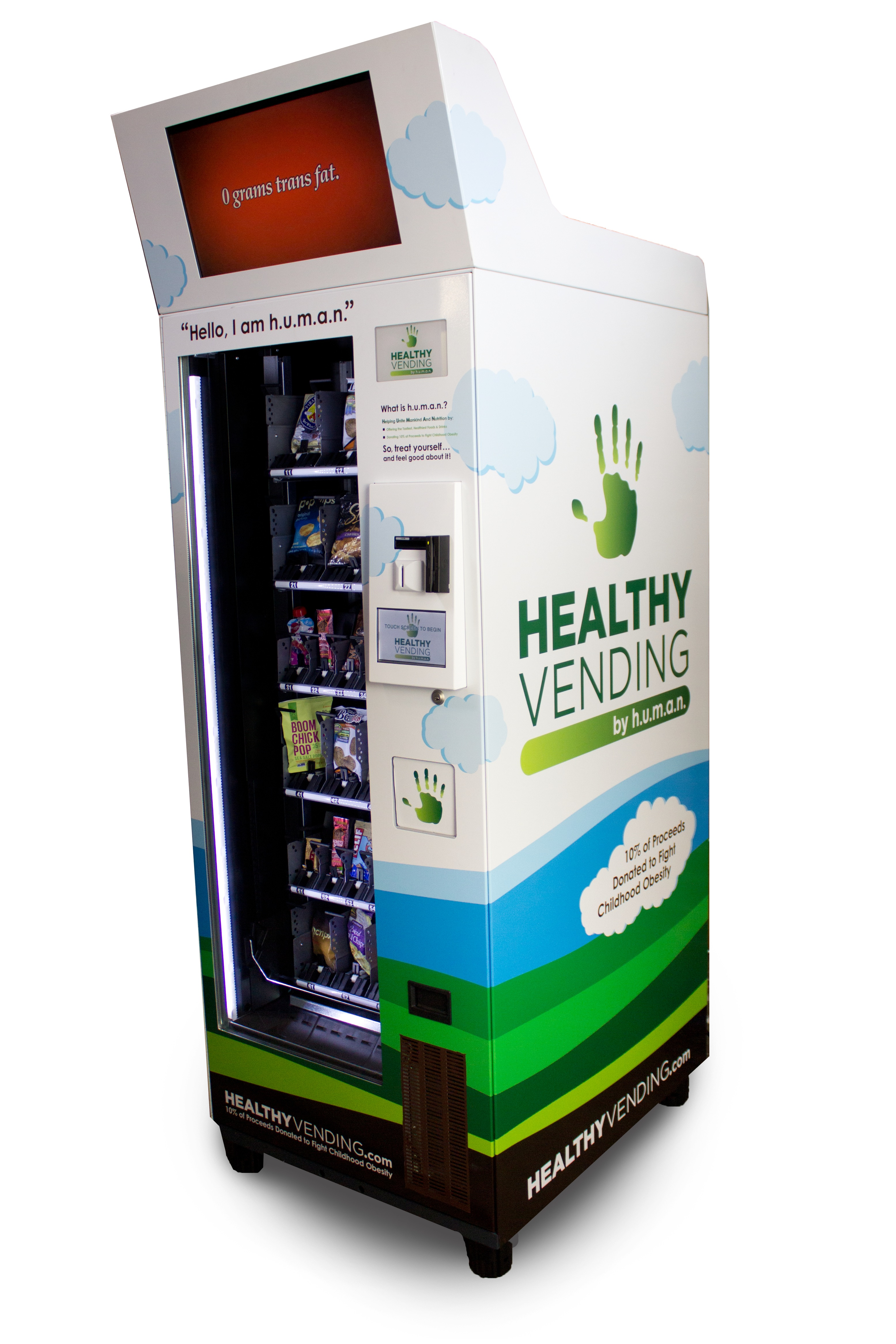 HUMAN Healthy Vending Media Mogul with Touch Screen