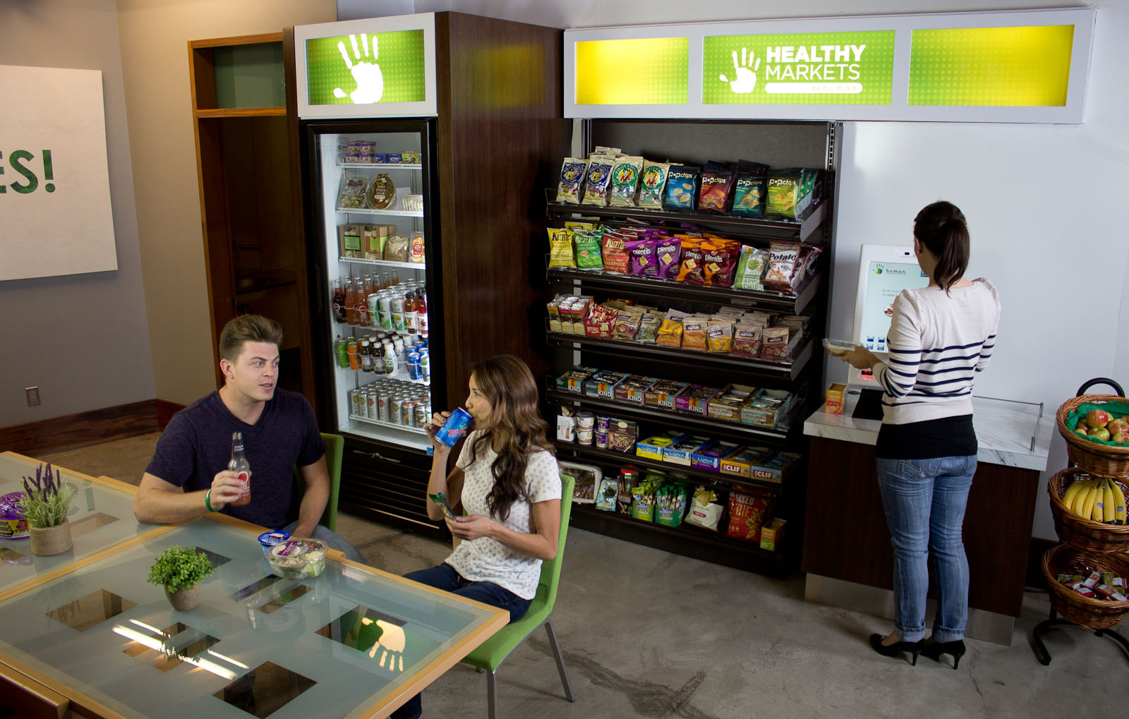 HUMAN's Healthy Micro-Markets Featuring Fresh Produce & Healthy Snacks