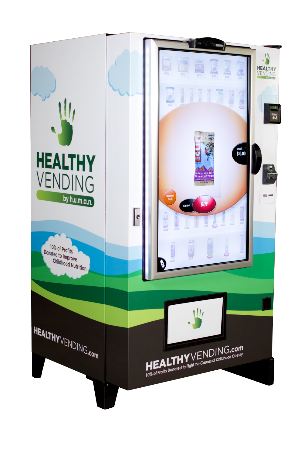 HUMAN Healthy Vending Franchise - Touch Screen Machine
