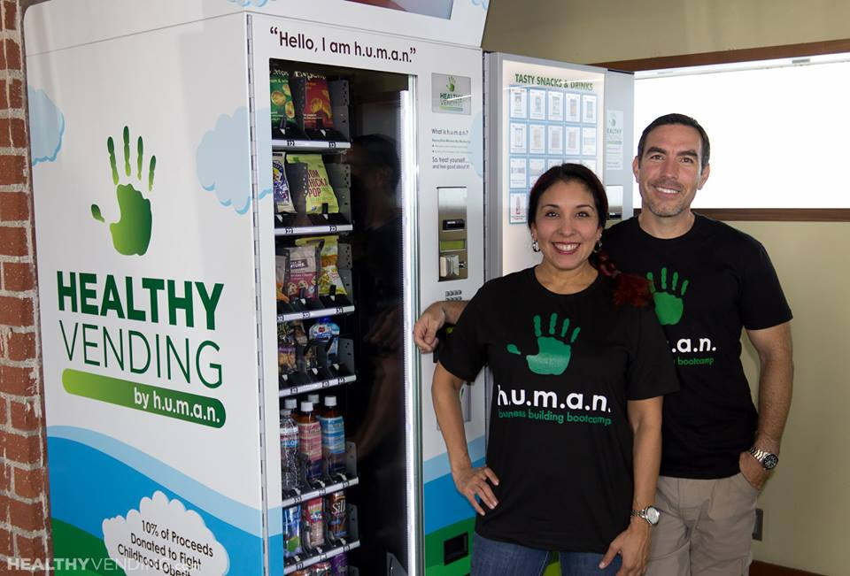 HUMAN Healthy Vending Franchise Owners Greg Burch and Liz Wise