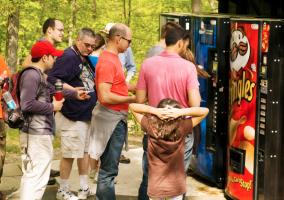 vending machines mid-hike